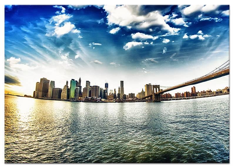 Schilderij lente in new york op canvas my little gallery - Foto van slaapkamer schilderij ...
