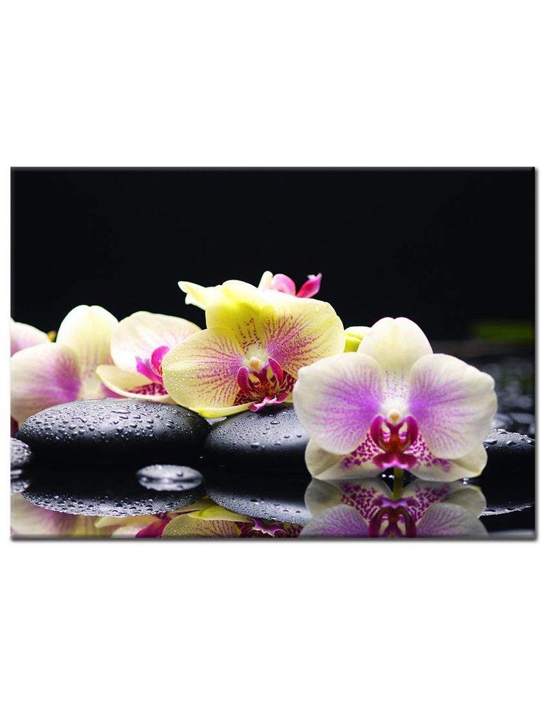 Canvas doek orchidee met zen stenen my little gallery - Kleur zen kamer ...