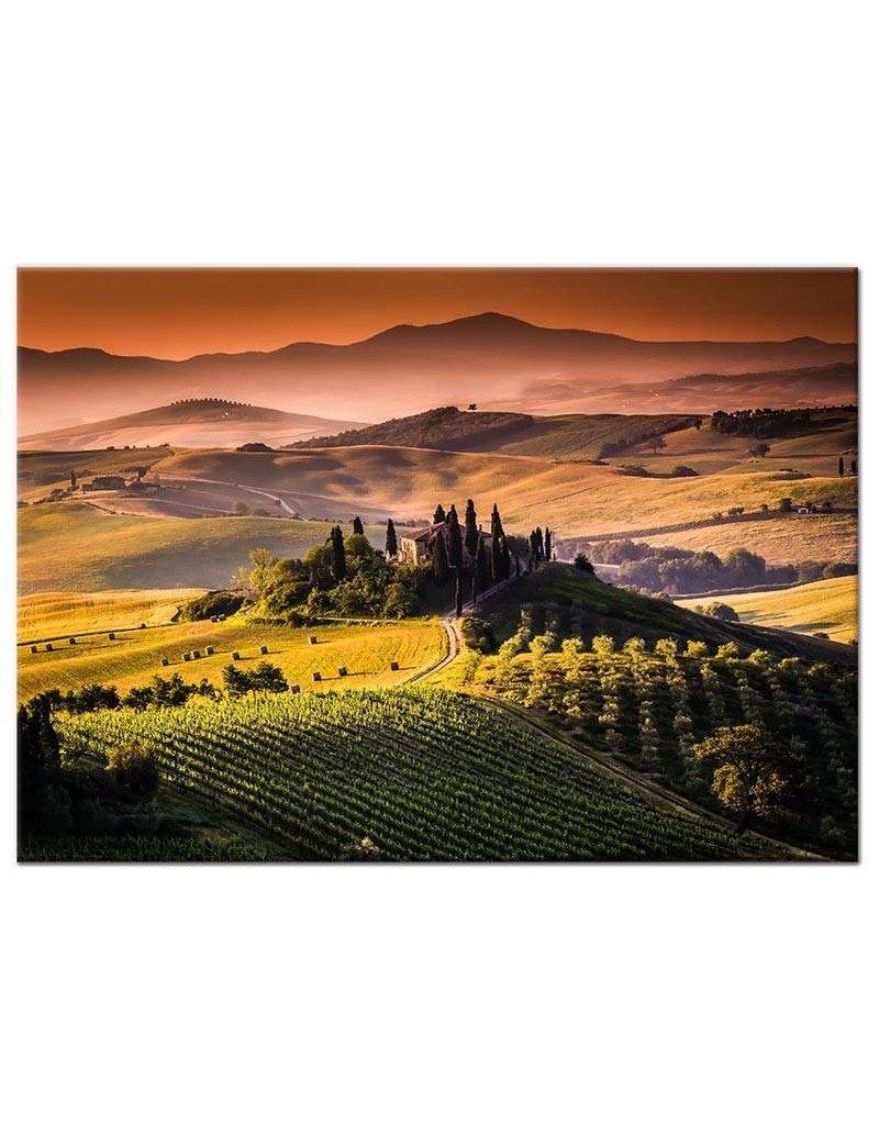 foto schilderij toscane italie op canvas doek my little