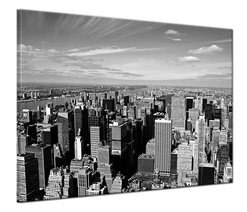 Schilderij skyline van new york op canvas my little gallery for Skyline schilderij