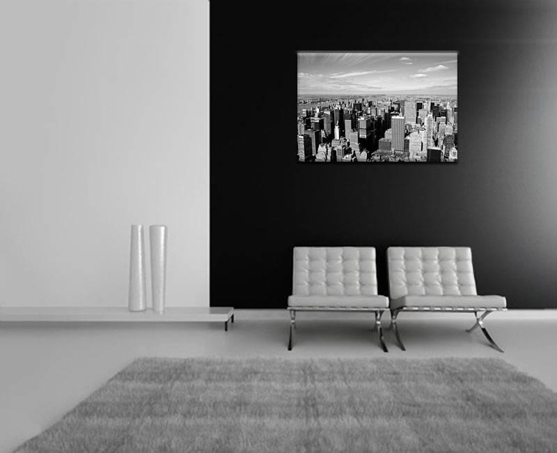 Schilderij skyline van new york op canvas my little gallery - Schilderij in de kamer ...
