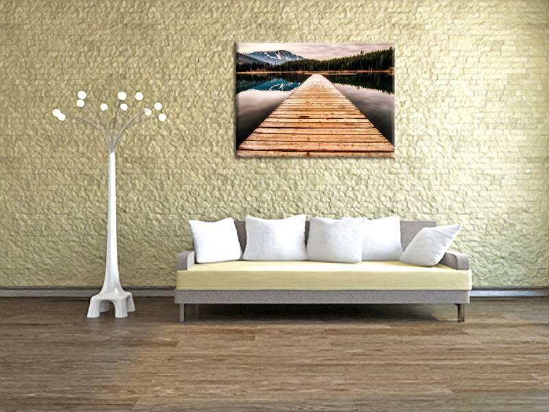 Foto schilderij steiger op canvas doek my little gallery for Schilderij zeezicht
