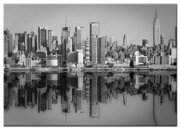 Canvas Schilderij New York Weerspiegeld - My Little Gallery