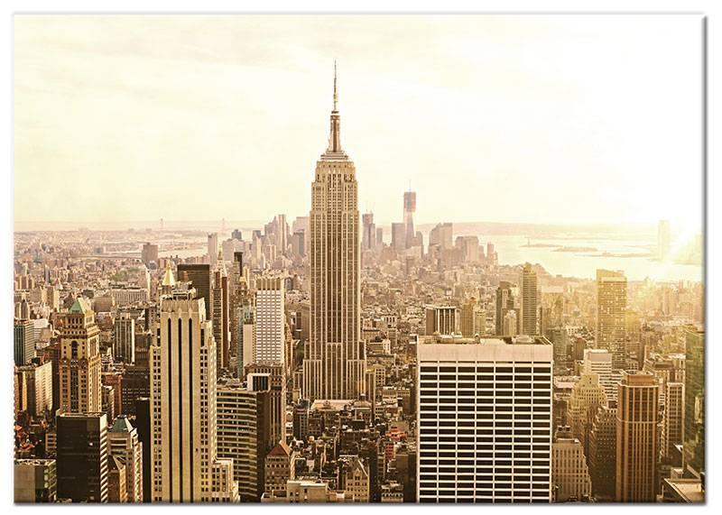 Schilderij new york skyline by day op canvas my little for Skyline schilderij