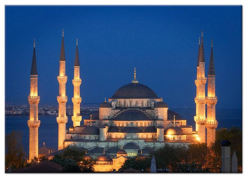 Schilderij blauwe moskee istanbul my little gallery - Foto van de eetkamer ...
