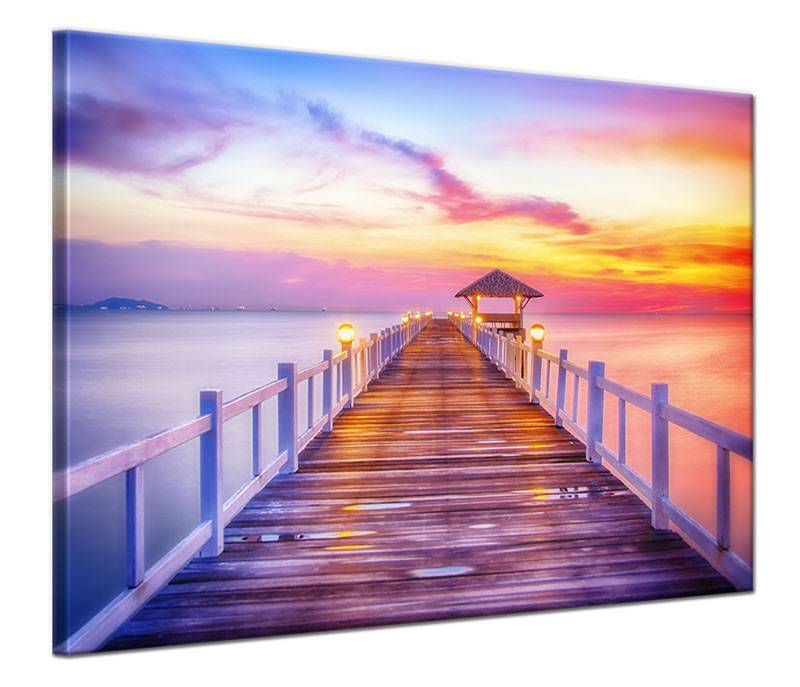 Schilderij steiger in tropische baai my little gallery for Schilderij zeezicht