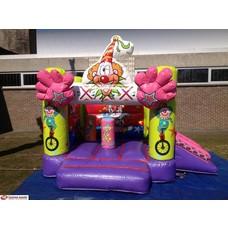 Springkasteel Circus Clown 3x2,5m + slide