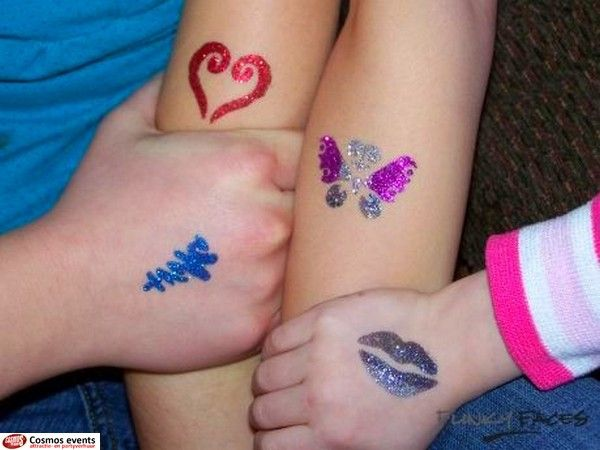 Glitter tattoo per uur cosmos events for Where to get glitter tattoos