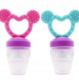 Haakaa Fresh food teether - 2 in 1 - roze
