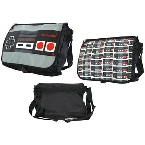 Nintendo Controller Reversible Flap Messenger Bag