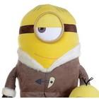 Despicable Me Grote Minion knuffel 54cm Stuart met winterjas