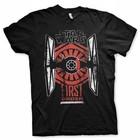 Star Wars Episode 7 T-shirt First Order TIE fighter (zwart)