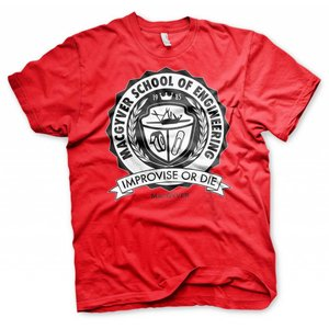 Macgyver T-shirt School Of Engineering (rood)