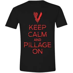 Vikings T-shirt Keep Calm... (zwart)