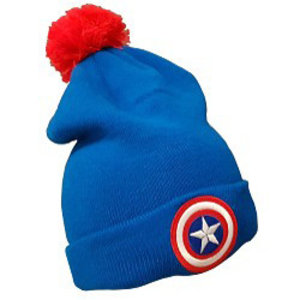 Captain America Muts met pompom voor volwassenen