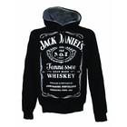 Jack Daniel's trui met kap (zwart)