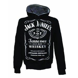 Jack Daniel's trui met kap classic logo