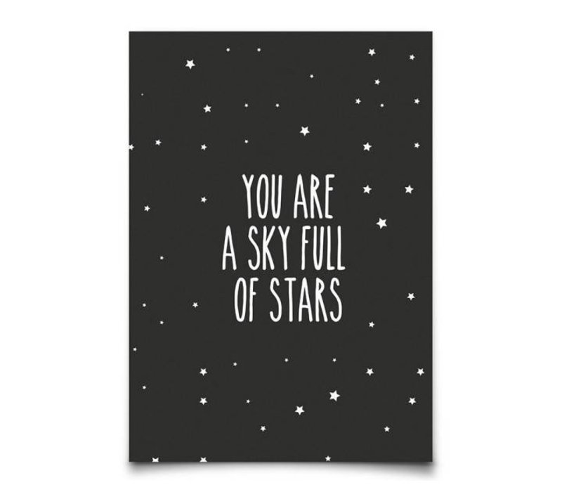 Kaart : You are a sky full of ..