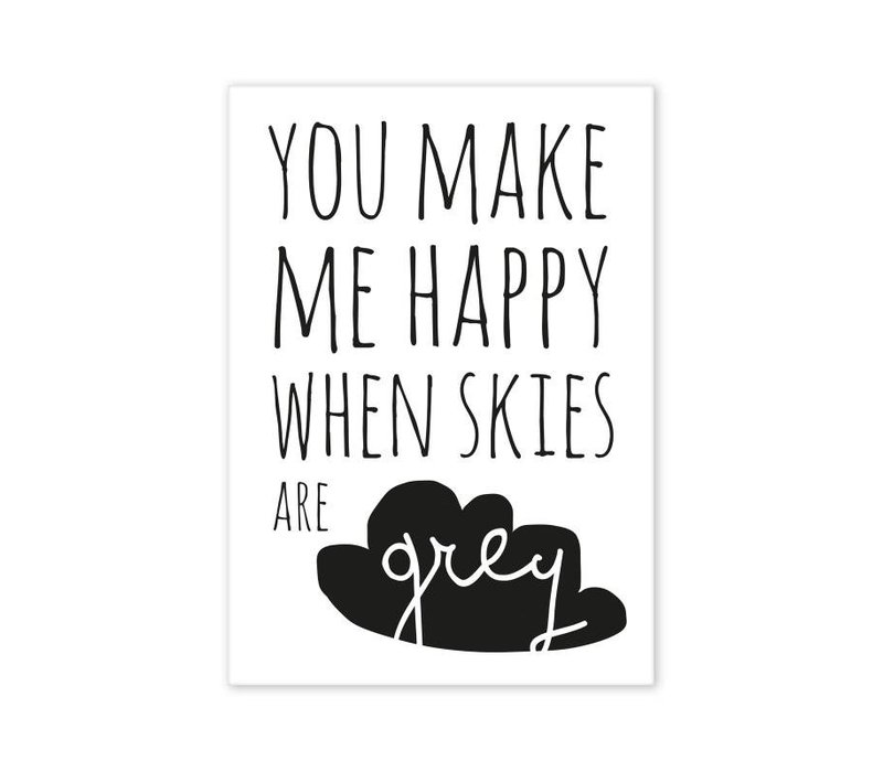 Postcard You make me happy...