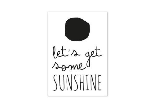 Paqhuis Postcard Let's get some Sunshine