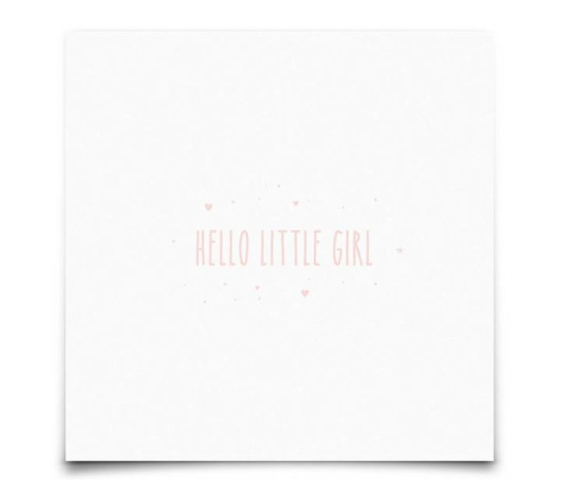kaart : Hello Little Girl