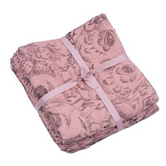 Soft Gallery Muslin Swaddle Owl Coral - Set van 3
