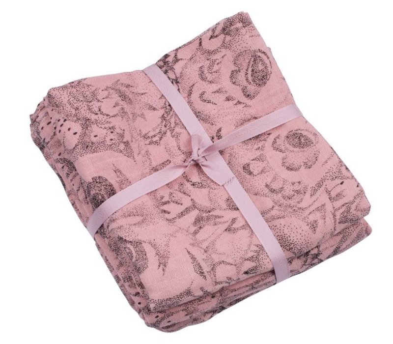 Muslin Swaddle Owl Coral
