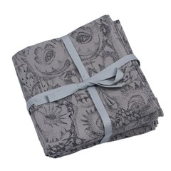 Soft Gallery Muslin Swaddle Owl Grey - Set van 3