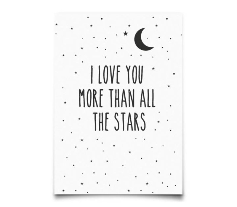 Kaart : I Love You More Than All The Stars