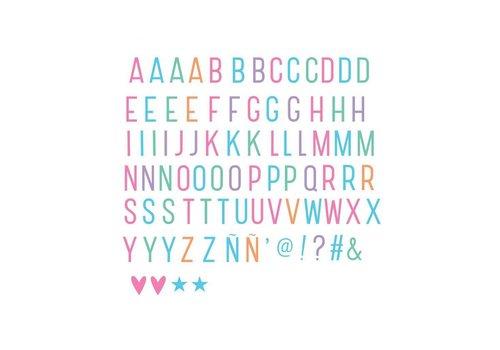 A Little Lovely Company Lightbox letter set: Pastel -10%