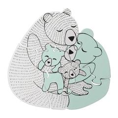 Bloomingville Mini Houten Puzzel Family Bear