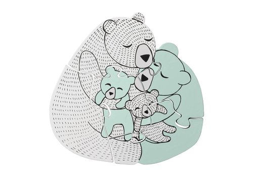 Bloomingville Mini Houten Puzzel Family Bear