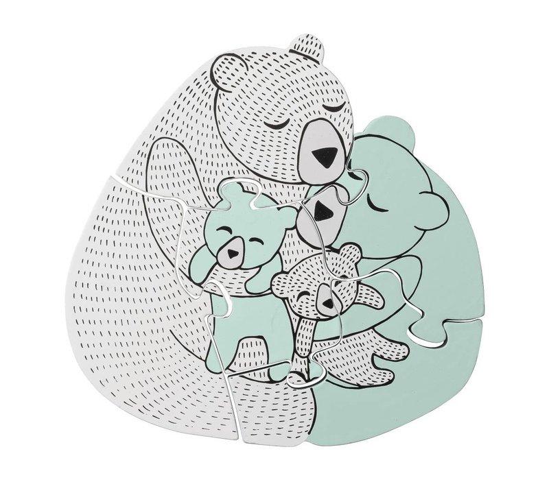 Houten Puzzel Family Bear