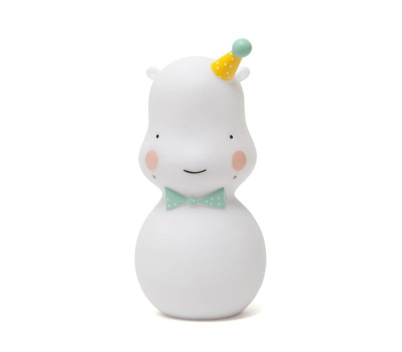 hippo nightlight - white
