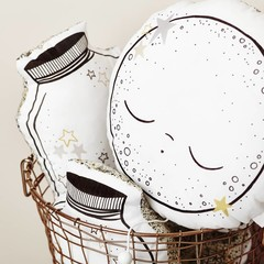 """Little Cloud gold moon musical cushion """"Fly Me to the Moon"""""""