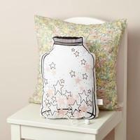 "pink jar of stars musical cushion ""Over the rainbow"""