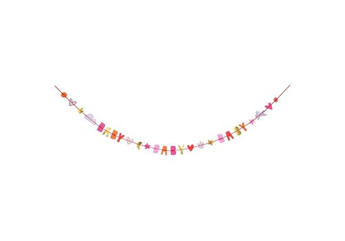 Meri Meri oh baby girl card - garland