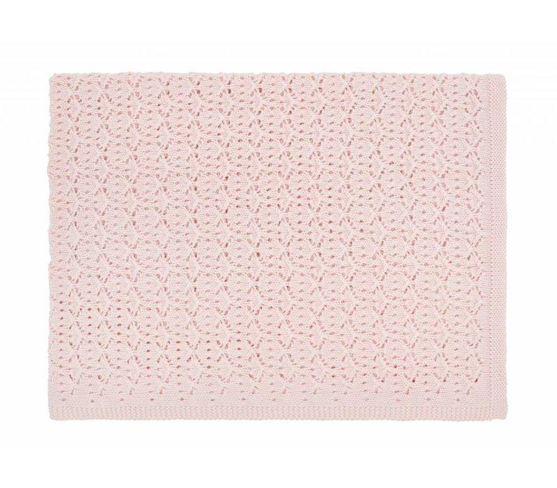 dentelle blanket - light pink