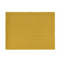 Rose in April dentelle blanket - ceylan yellow