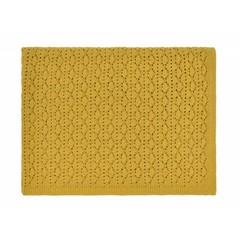 Rose in April dentelle blanket - ceylan yellow
