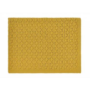 Rose in April dentelle blanket - ceylan yellow 70x100