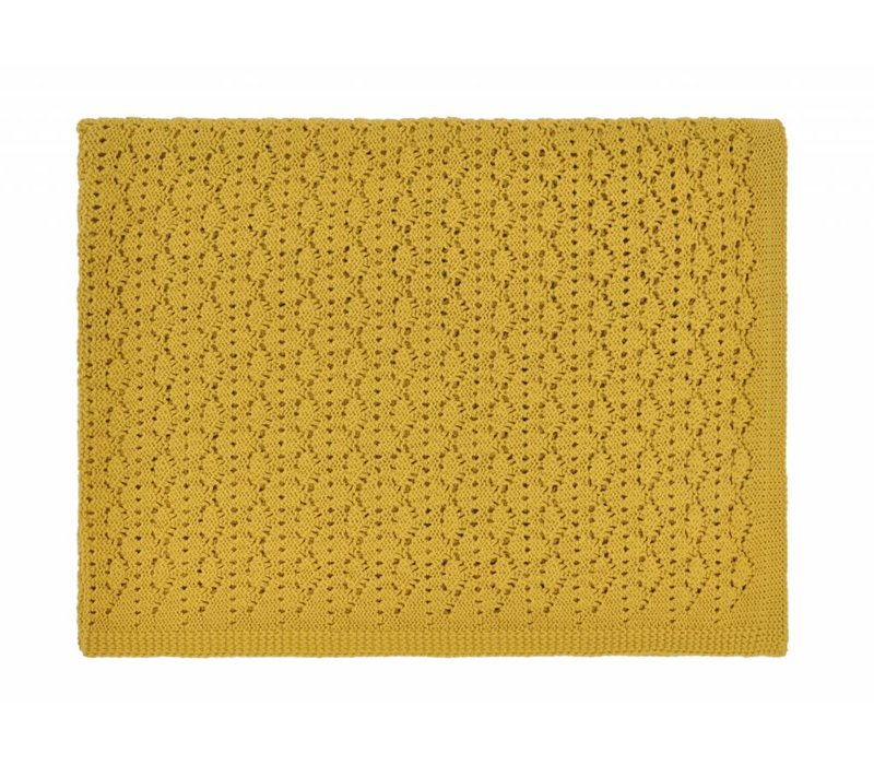 dentelle blanket - ceylan yellow 70x100