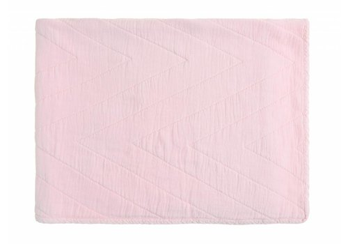 Rose in April baby quilt eugenie velours - roze