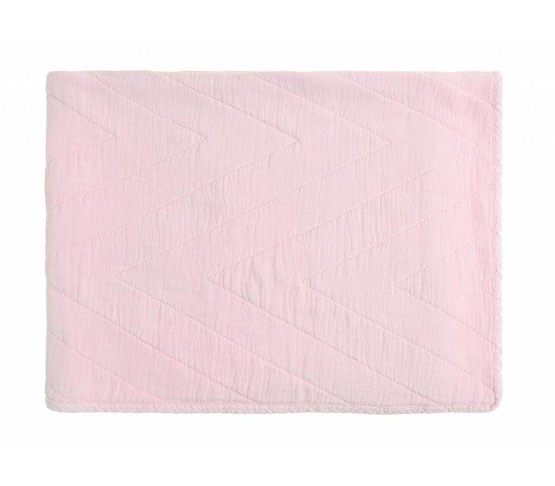 baby quilt eugenie - pink 80x100