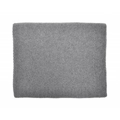 Rose in April big bou blanket - dark grey
