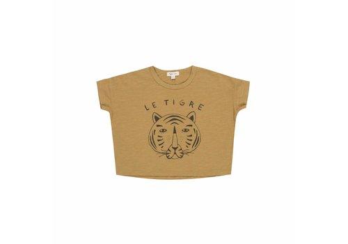 Rylee + Cru le tigre box tee - mustard -40% Last size 12-18m
