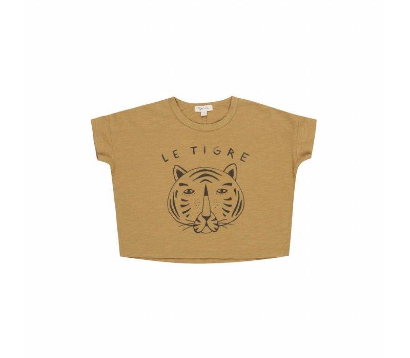 le tigre box tee - mustard