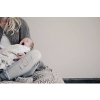 swaddle blanket - geo dots