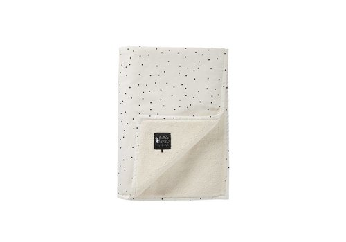 Mies & Co baby soft teddy deken - adorable dot offwhite 70x100