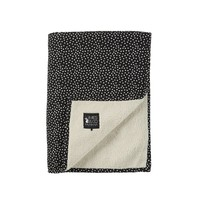 baby soft teddy deken - cozy dots black